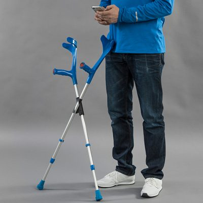 XCLIP crutch holder frees your hands